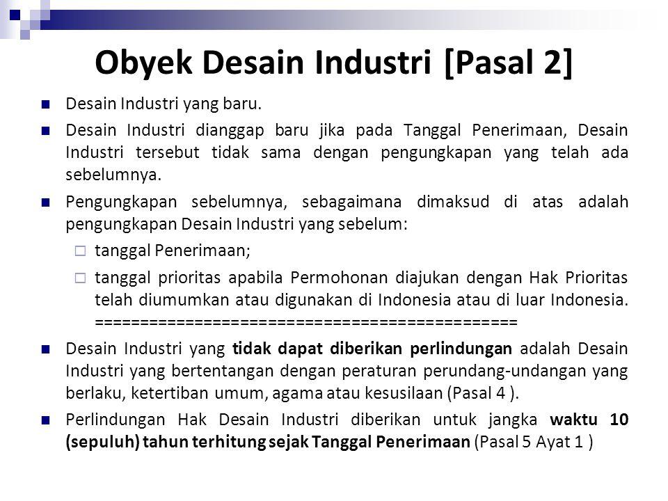 Obyek Desain Industri [Pasal 2]